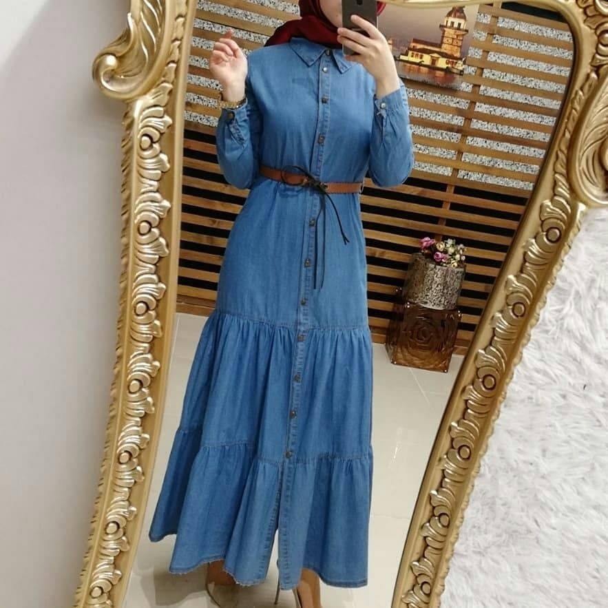 Gelsin Mi Yeni Sezon Kot Elbise Modelleri Boydan Dugmeli Etegi Parcali Yeni Sezon Yikamali Kot Elbi Long Sleeve Dress Dresses With Sleeves Dresses