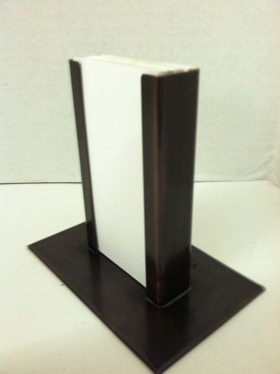 copper vertical modern business card holder  yancey