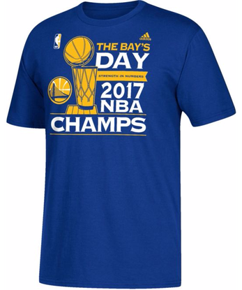 adidas Men s 2017 NBA Champions Golden State Warriors The Bay s Day Parade  Royal T-Shirt 210d9b7ae