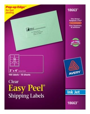 Avery Labels Cards Dividers Office Supplies More Clear Address Labels Labels Shipping Labels