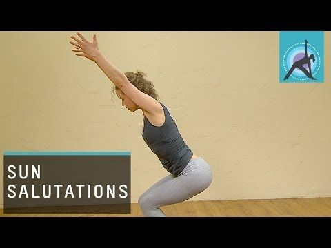 ▶ Three variations of a Sun Salutation or Surya Namaskar, Yoga - YouTube from easiest to harder