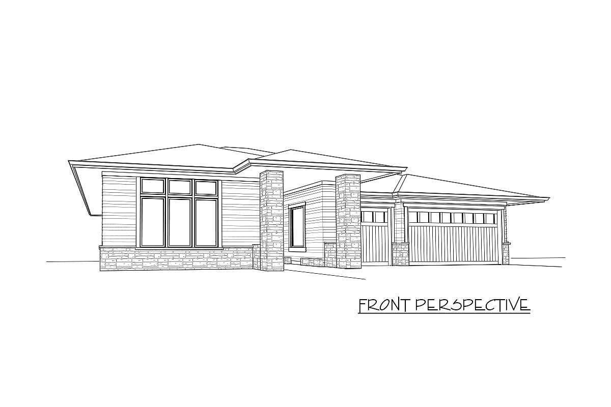 Plan Ms Sun Filled Exclusive Modern Prairie Home