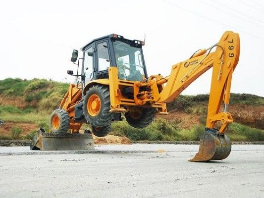 Nice #backhoe jump! | Backhoes | Backhoe loader, Heavy