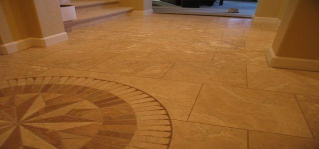 18 Inch Travertine Installation Boswell Flooring