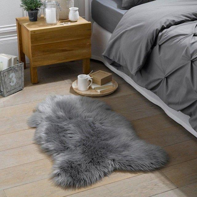 Livio Faux Sheepskin Bedside Rug