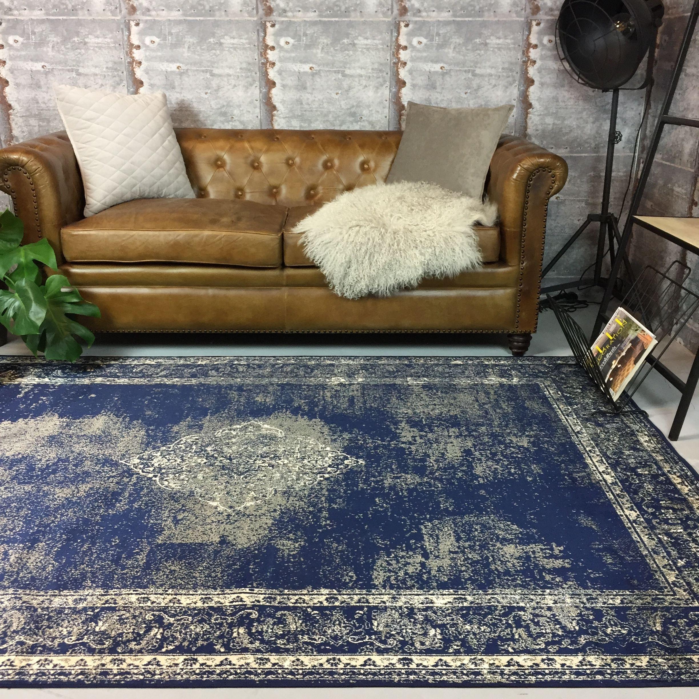 Vintage Vloerkleed In De Kleur Blauw Mooi Voor In De Woonkamer Slaapkamer Of Eetkamer Vintage V Vloerkleed Groen Vloerkleed Grijs Vloerkleed Vintage Grijs