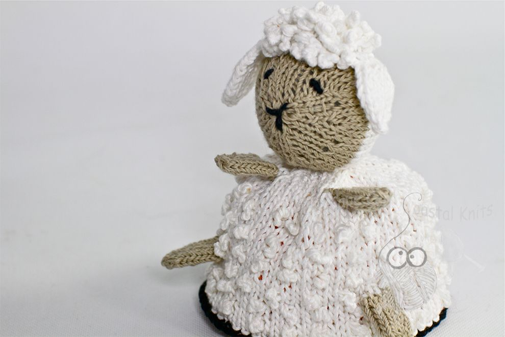 Curly the Lamb  Reversible Toy by Lisa @ Cape Cod Coastal Knits The other side is Roar the Lion