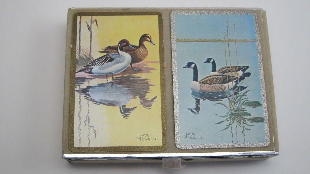 2 decks congress celutone finish playing cards duck