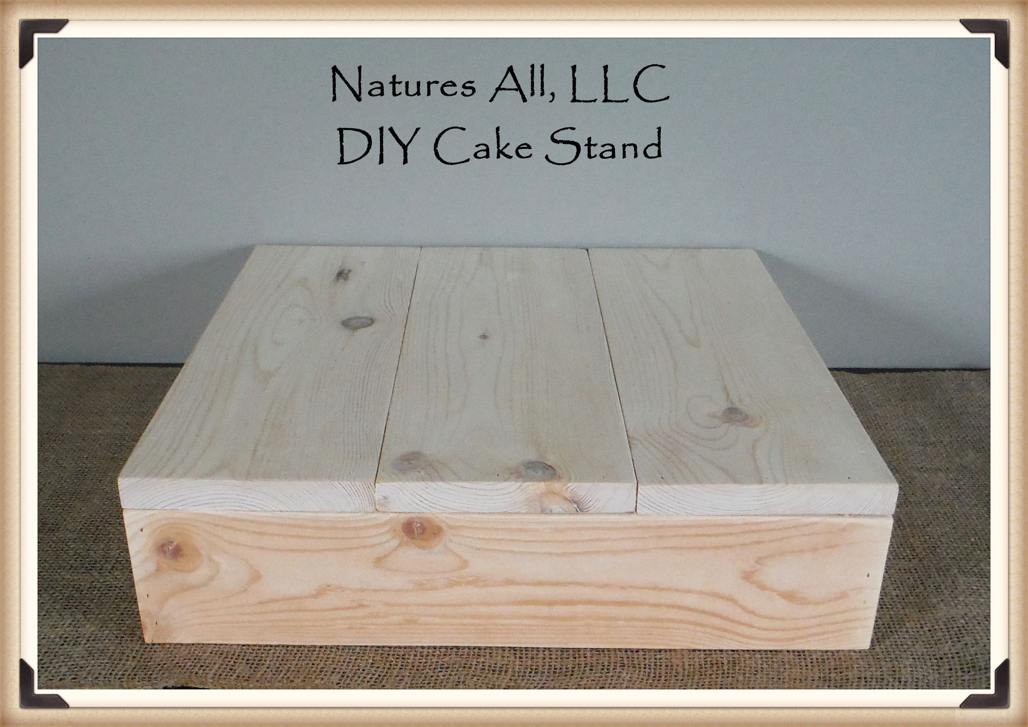Diy Rustic Wedding Cake Stand Country Wedding Cake Stand Idea