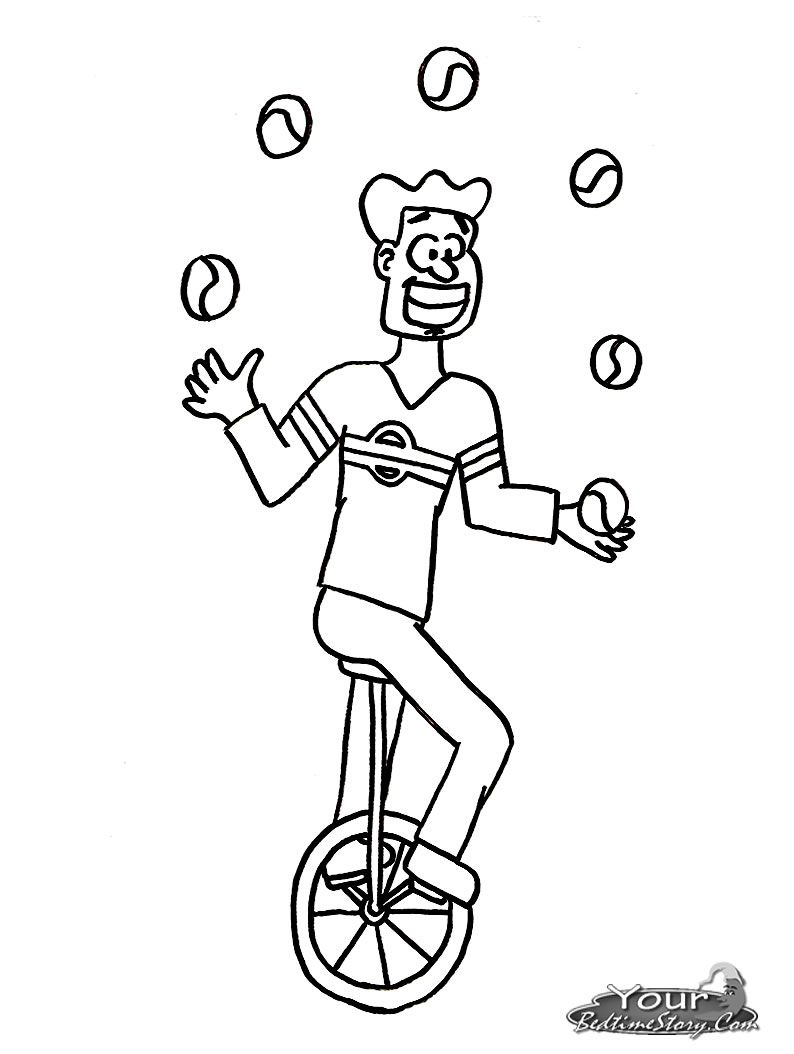 Free Coloring Pages Of Juggler Free Coloring Pages Coloring Pages Color