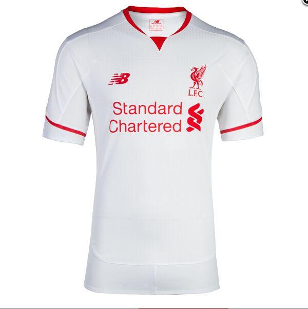 Acheter Maillot Liverpool Exterieur 2015 2016 Pas Cher Blanc Vintage