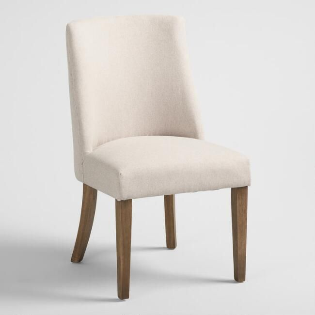 Excellent Natural Upholstered Lisette Dining Chair Set Of 2 By World Bralicious Painted Fabric Chair Ideas Braliciousco