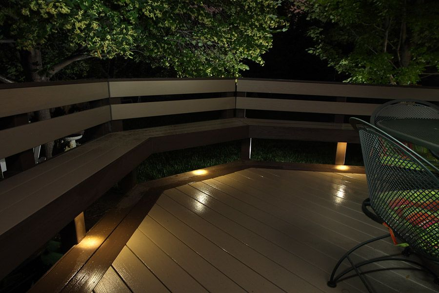 Dekor led recessed down lights provide subtle lighting under deck dekor led recessed down lights provide subtle lighting under deck benches books worth reading pinterest decking deck lighting and bench mozeypictures Image collections
