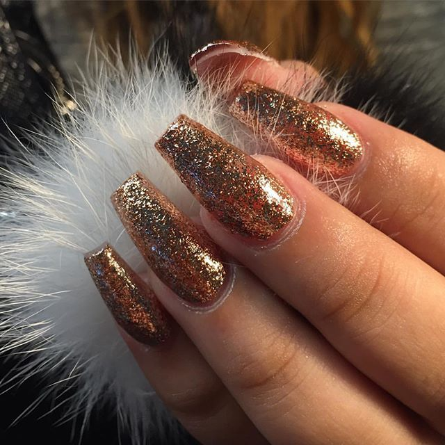 Find Images And Videos About Nails Gold Glitter On We Heart It The To Get Lost In What You Love