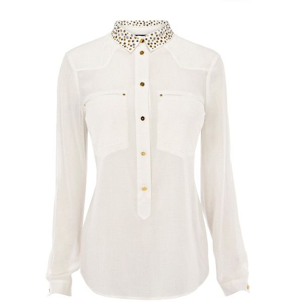 Warehouse Stud Western Shirt ($71) ❤ liked on Polyvore