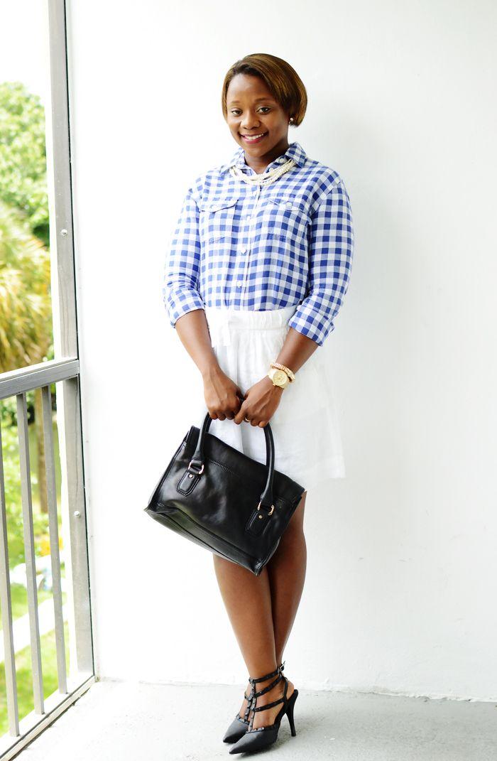 button down short and skirt work outfit   Summer Linen