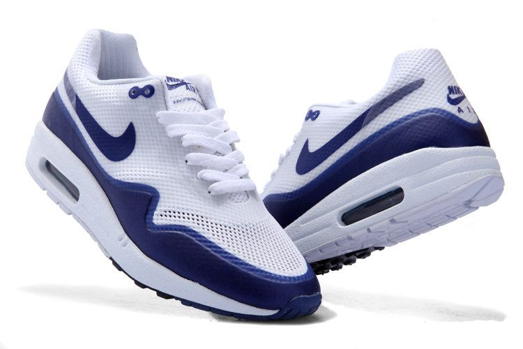 sale retailer ca38d 2905a Nike Air Max 1 Hyperfuse Womens White Navy Blue Shoes New Models