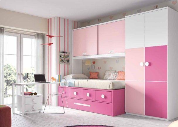 Habitaci n infantil con compacto nido cajones novedades de mueble juvenil pinterest - Muebles habitacion infantil ...
