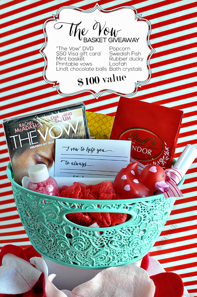 the vow s date idea basket giveaway create gift and