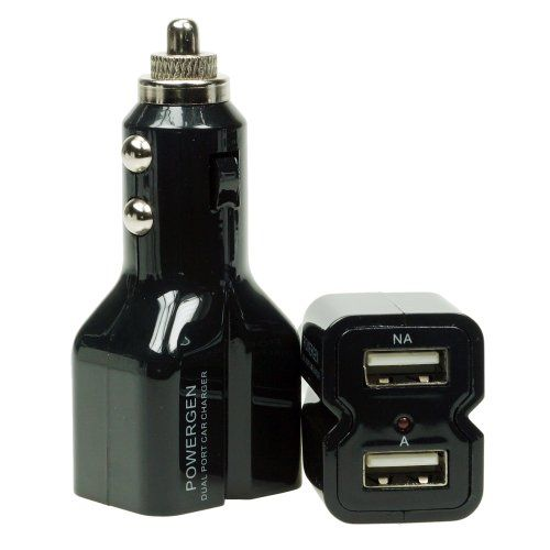 PowerGen Dual USB 3.1A 15w High Output Car Charger - BLACK - Listing price: $29.99 Now: $9.99 + Free Shipping