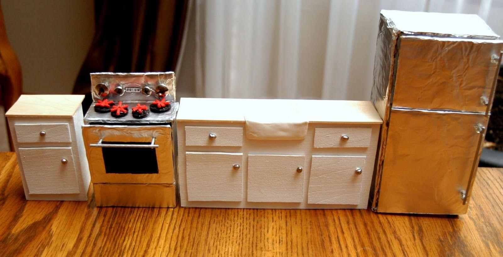 Dhkitchen4 Jpg 1600 817 Diy Dollhouse Furniture Diy Cardboard Furniture Miniature Dollhouse Furniture