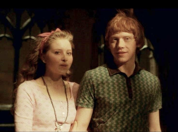 Lavender Brown and Ron Weasley