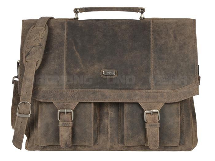 5293dd3a2aadb Harold s Antico natur - Leder Aktenmappe Aktentasche Lehrertasche  Schultasche -antikbraun oder taupe 84403