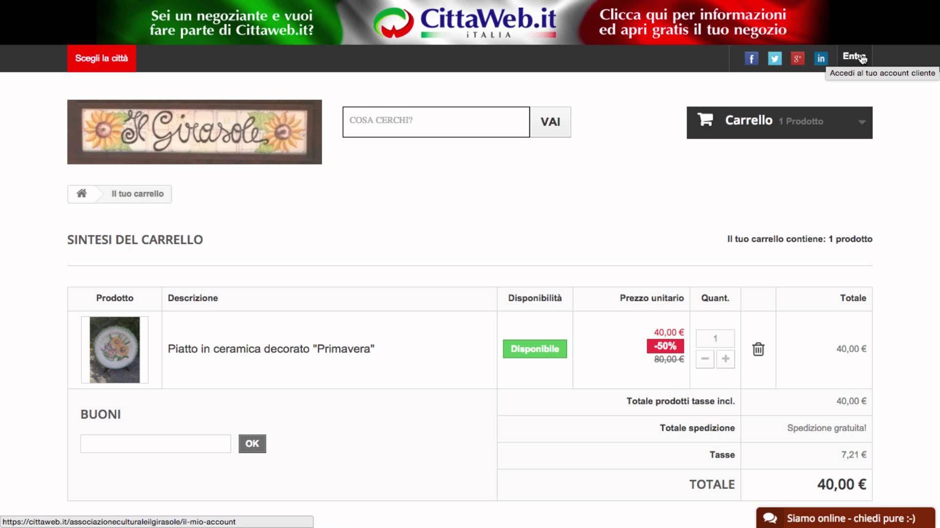 Indovina indovinello: la prenotazione su Cittaweb avviene con la carta d...