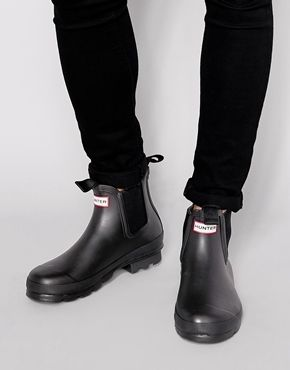 Hunter Original Chelsea Wellington Boots - Black