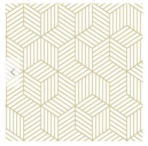 Rumsey Striped Hexagon 16 5 L X 20 5 W Geometric Peel And Stick Wallpaper Roll White Gold Hexagon Wallpaper Geometric Hexagon Wallpaper Peel And Stick Wallpaper