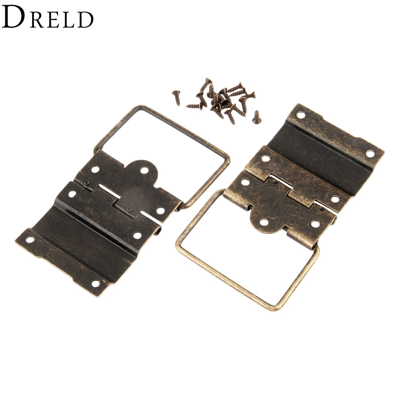 Dreld 2pcs 41 52mm Antique Cabinet Hinges Furniture Accessories Door Hinges Drawer Jewellery Box Hinges Jewelry Box Hinges Antique Cabinets Furniture Hardware