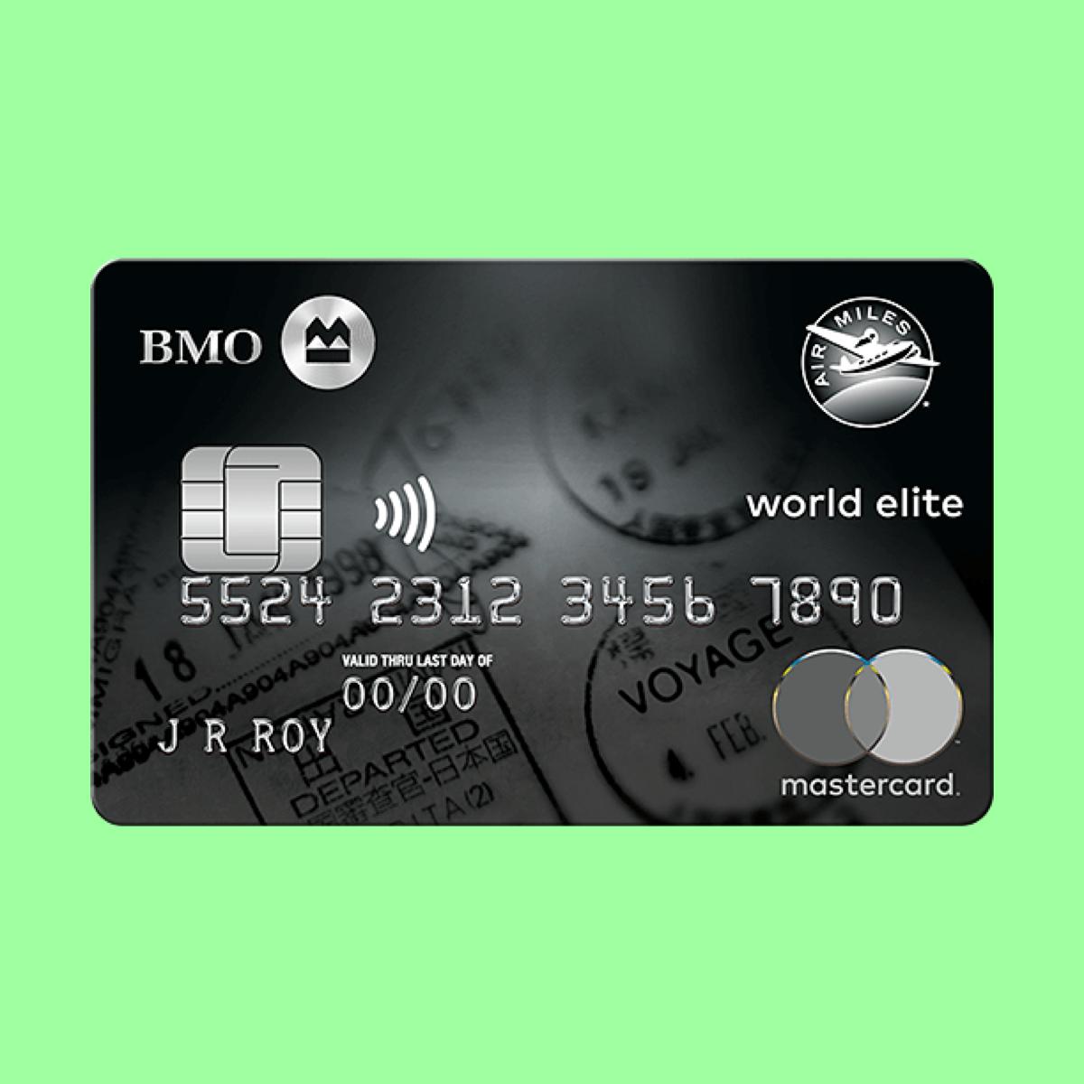 Bmo Air Miles World Elite Mastercard Canada Calculator Compare Cards Mastercard Credit Card Fees