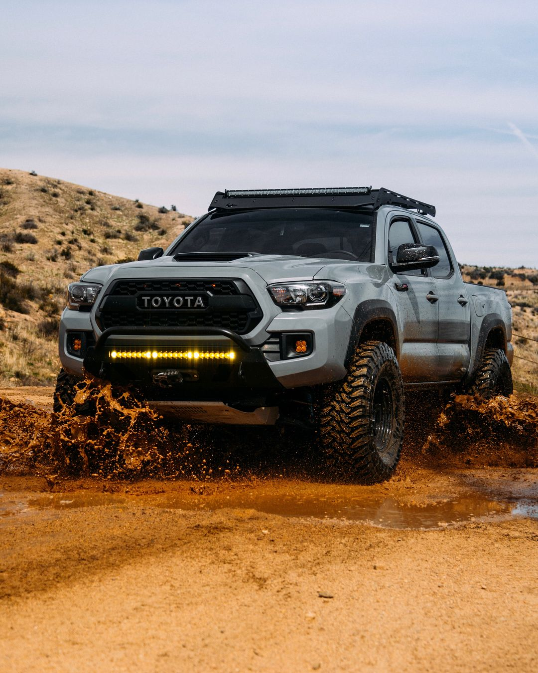 cement tacoma trd pro on instagram all this rain has called for a quick dip alldaymudspa. Black Bedroom Furniture Sets. Home Design Ideas