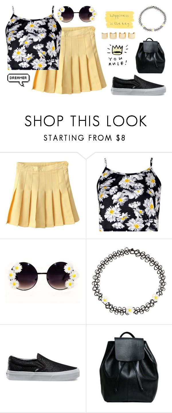 """""""Happiness is Key"""" by draaayya ❤ liked on Polyvore featuring Boohoo, Monsoon, Vans, Luv Aj, women's clothing, women, female, woman, misses and juniors"""