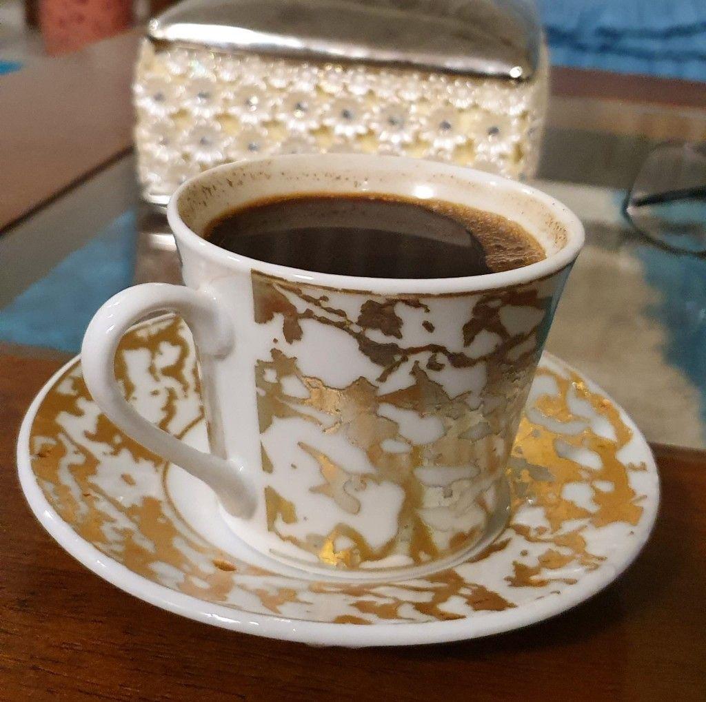 فنجان قهوتي بعد الافطار Beauty Girl Tableware Glassware
