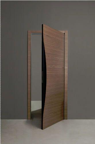 Swinging door   in wood BLOW by Karim Rashid ALBED ENTRIES - puertas de entrada
