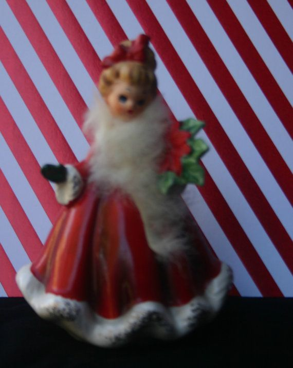 Vintage JOSEF ORIGINALS CHRISTMAS Girl with Fur by JosefCollector