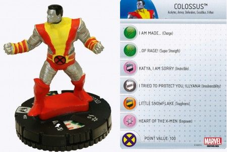 Colossus #002 Wolverine and the X-Men Marvel Heroclix - Wolverine & the X-Men Booster Set - Wolverine and the X-Men - HeroClix - Miniatures