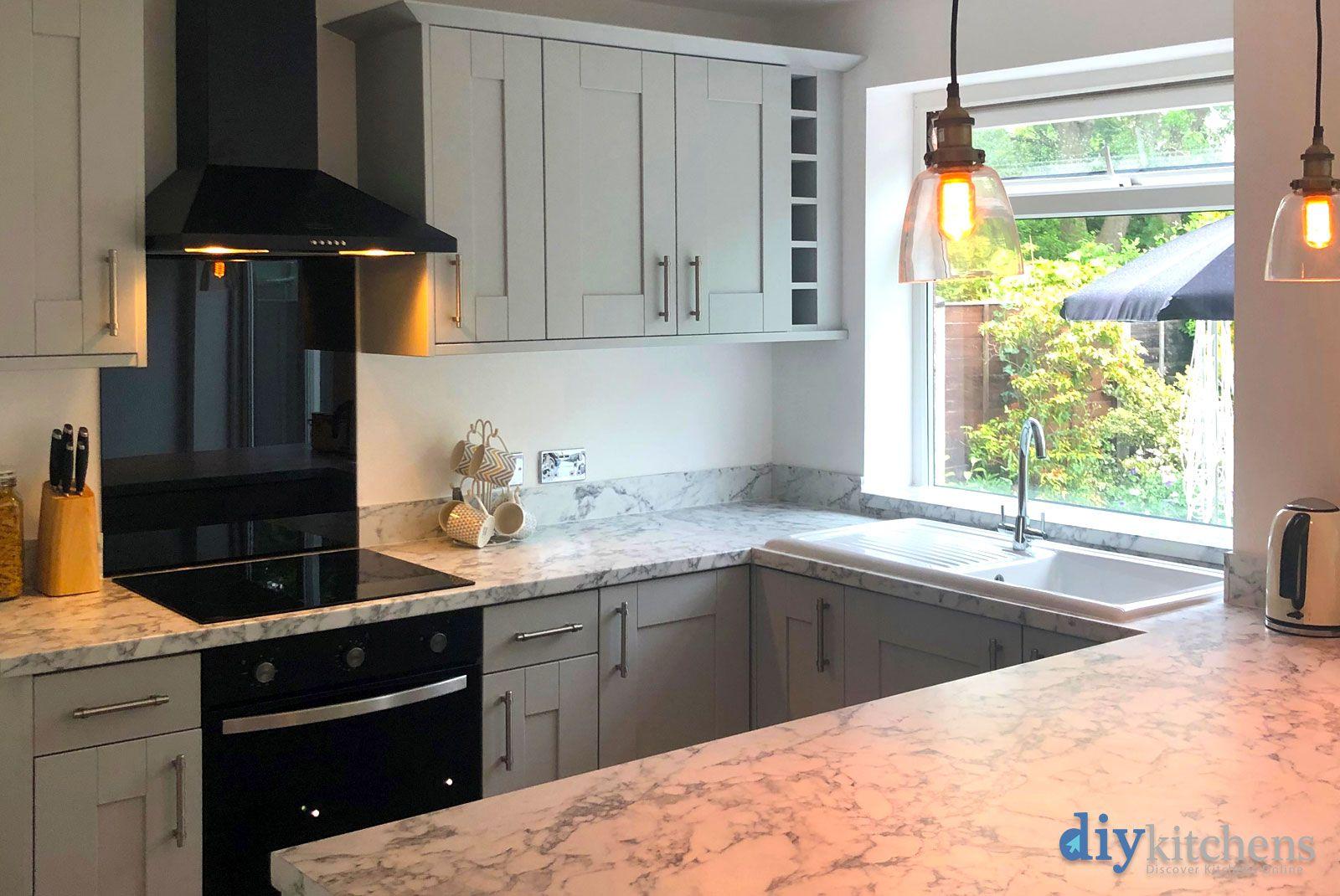 An Innova Clayton Dove Grey Shaker Kitchen Cheap kitchen