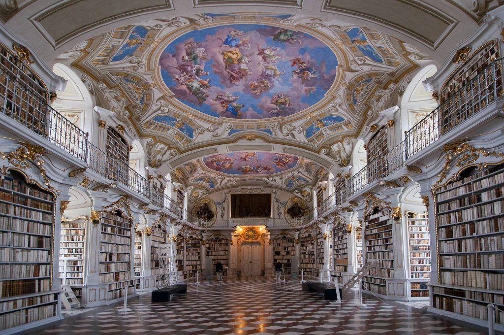 Bibliothèque de l'abbaye d'Admont, Autriche - blog Opodo | Architecture baroque, Bibliotheque, Bénédictin
