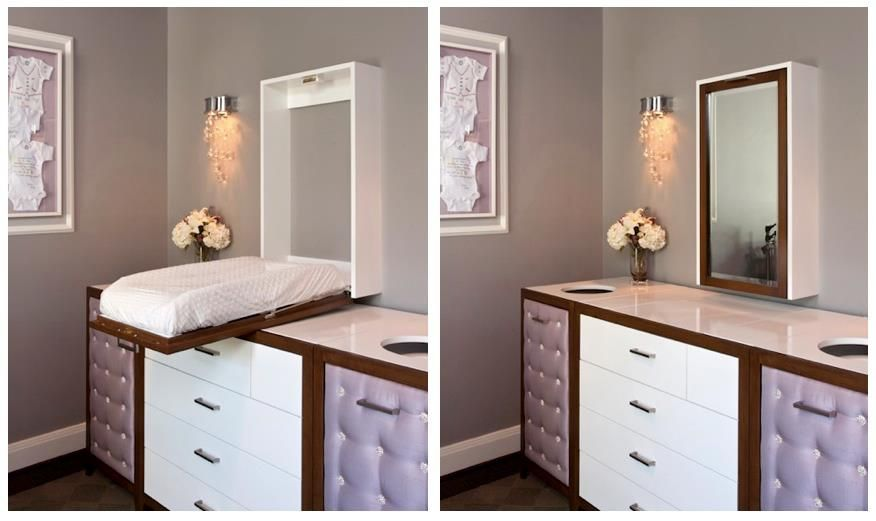 Hidden Changing Table Changing Table Diy Changing Table Nursery Design
