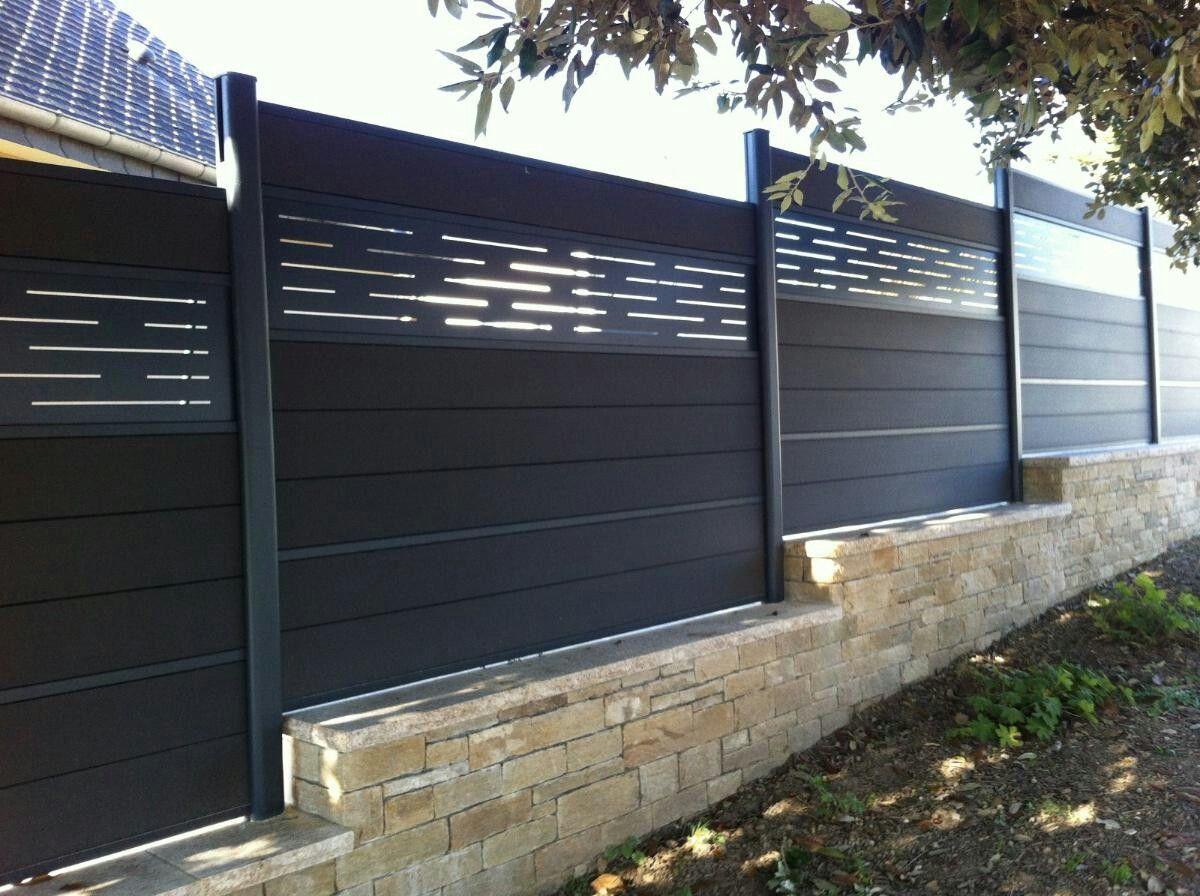 Pingl par st phane marie sur cloture jardin pinterest cl ture composite cloture jardin et for Cloture maison aluminium
