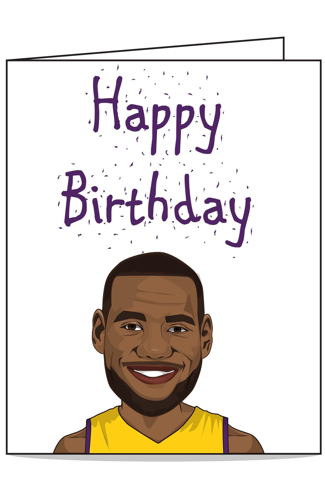 Lebron birthday card with images birthday cards