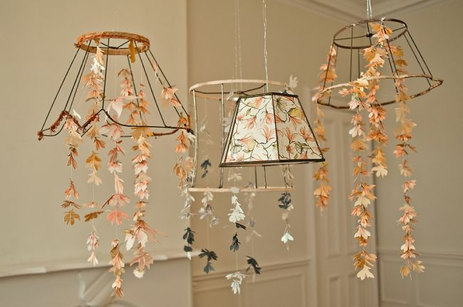 Wedding inspiration with tangerine tango paper chandelier paper flower chandelier aloadofball Image collections