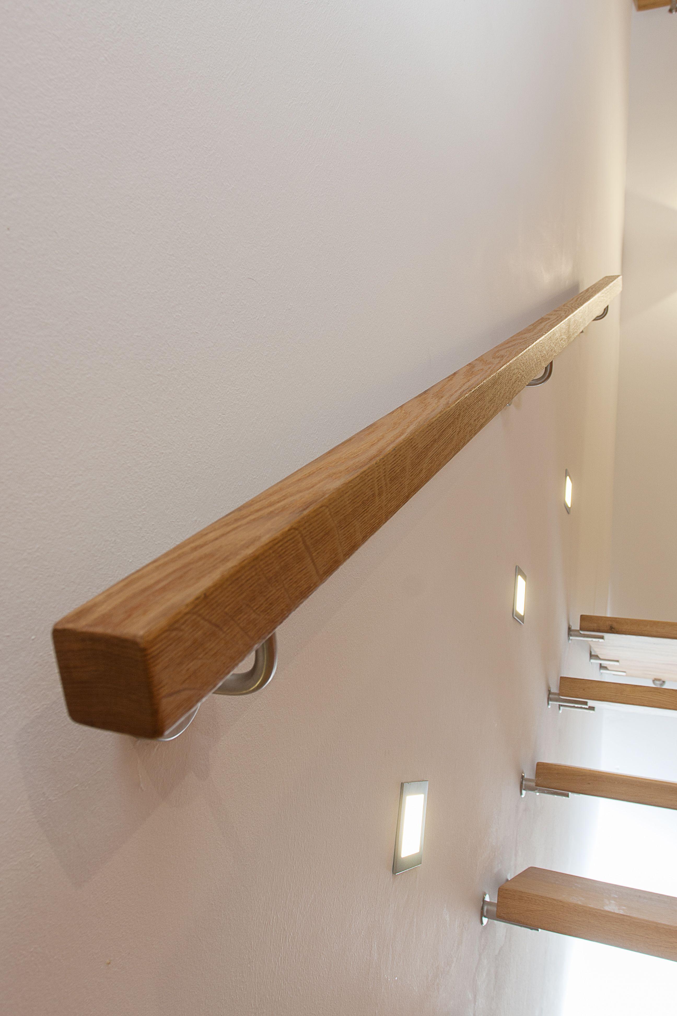 Frey Wandhandlauf Holz Beleuchtung Edelstahl Holzhandlauf Handlauf Treppe Handlauf Holz