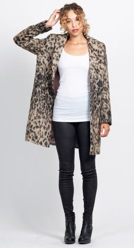 51e903f08485 Smythe Lab Coat in Vintage Leopard | IvyBlue.com | Sweater Weather ...