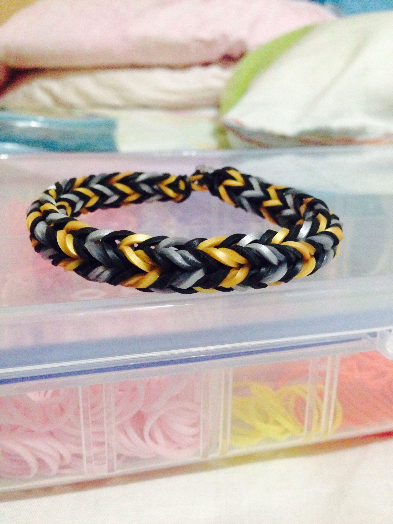 rainbow loom bracelet dragon fishtail using the monster