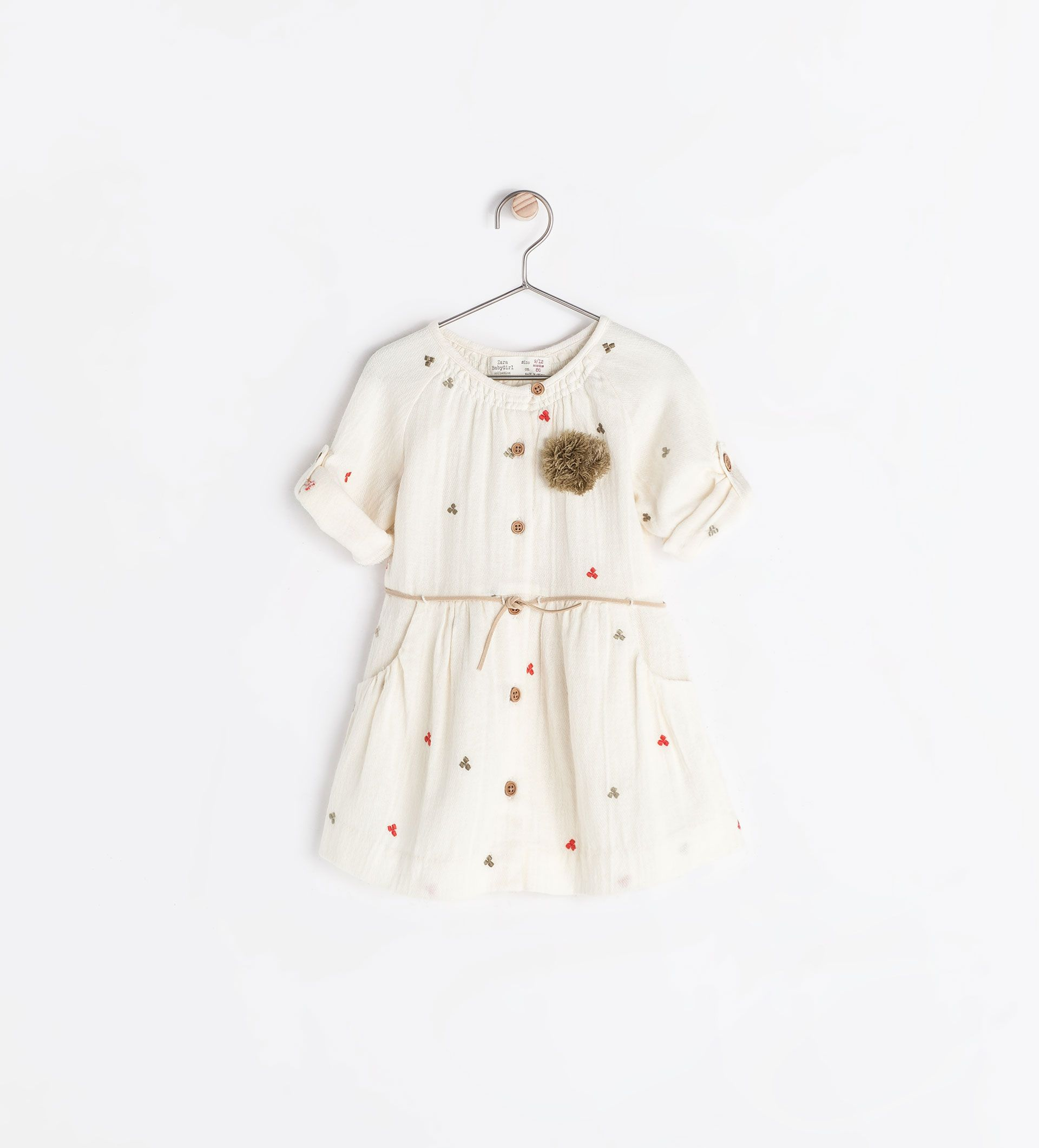 Pompom Embroidered Dress From Zara Too Expensive For