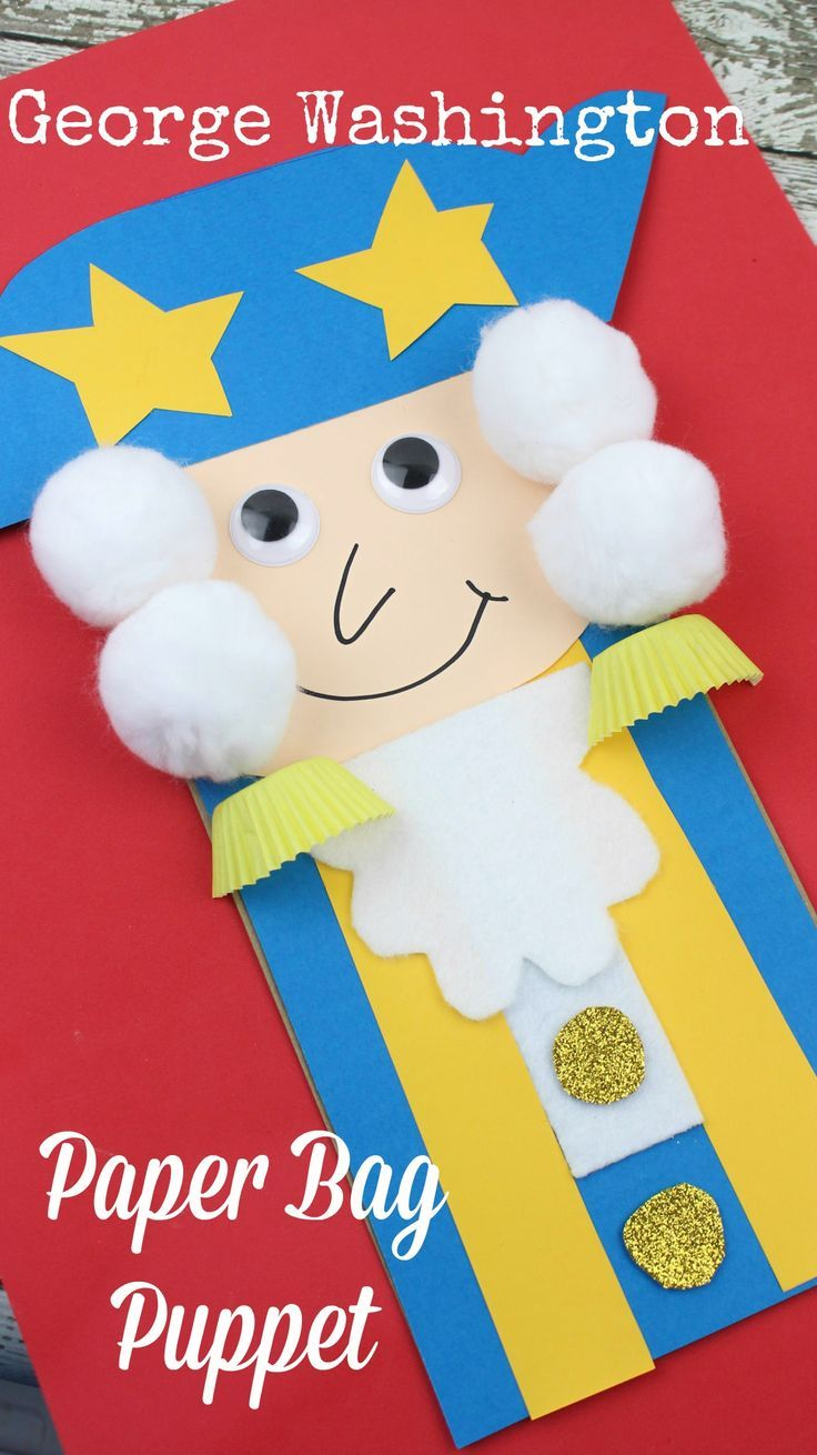 President\'s Day George Washington Paper Bag Kid\'s Craft