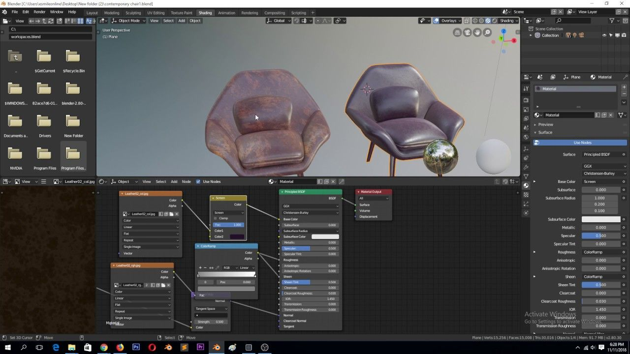 Collect All Textures Into The Same Project Folder As Blend File